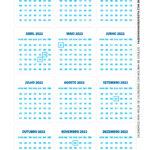 Calendario de mesa Dia dos Professores Azul 2
