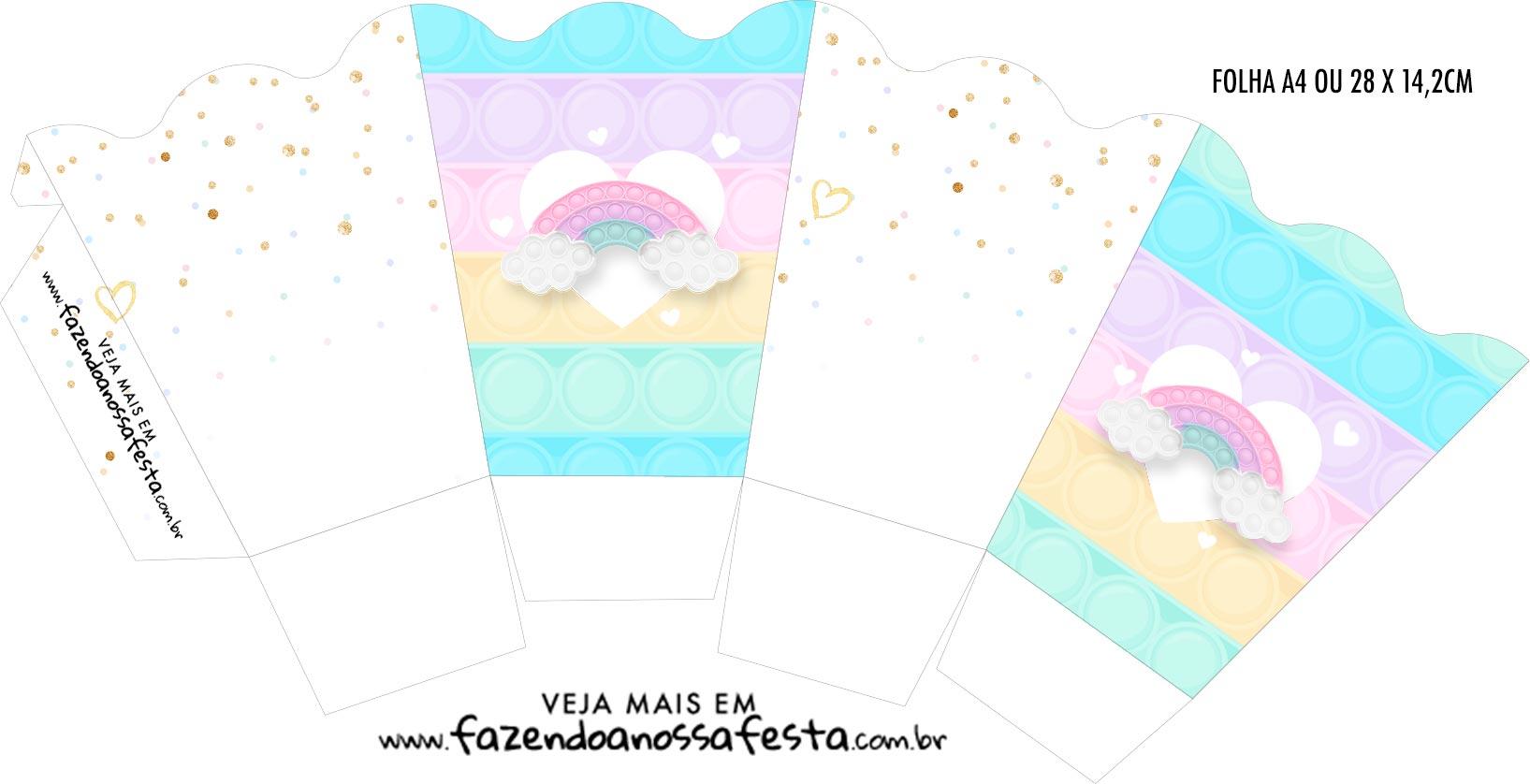 Caixinha Milk Pop It Candy Color