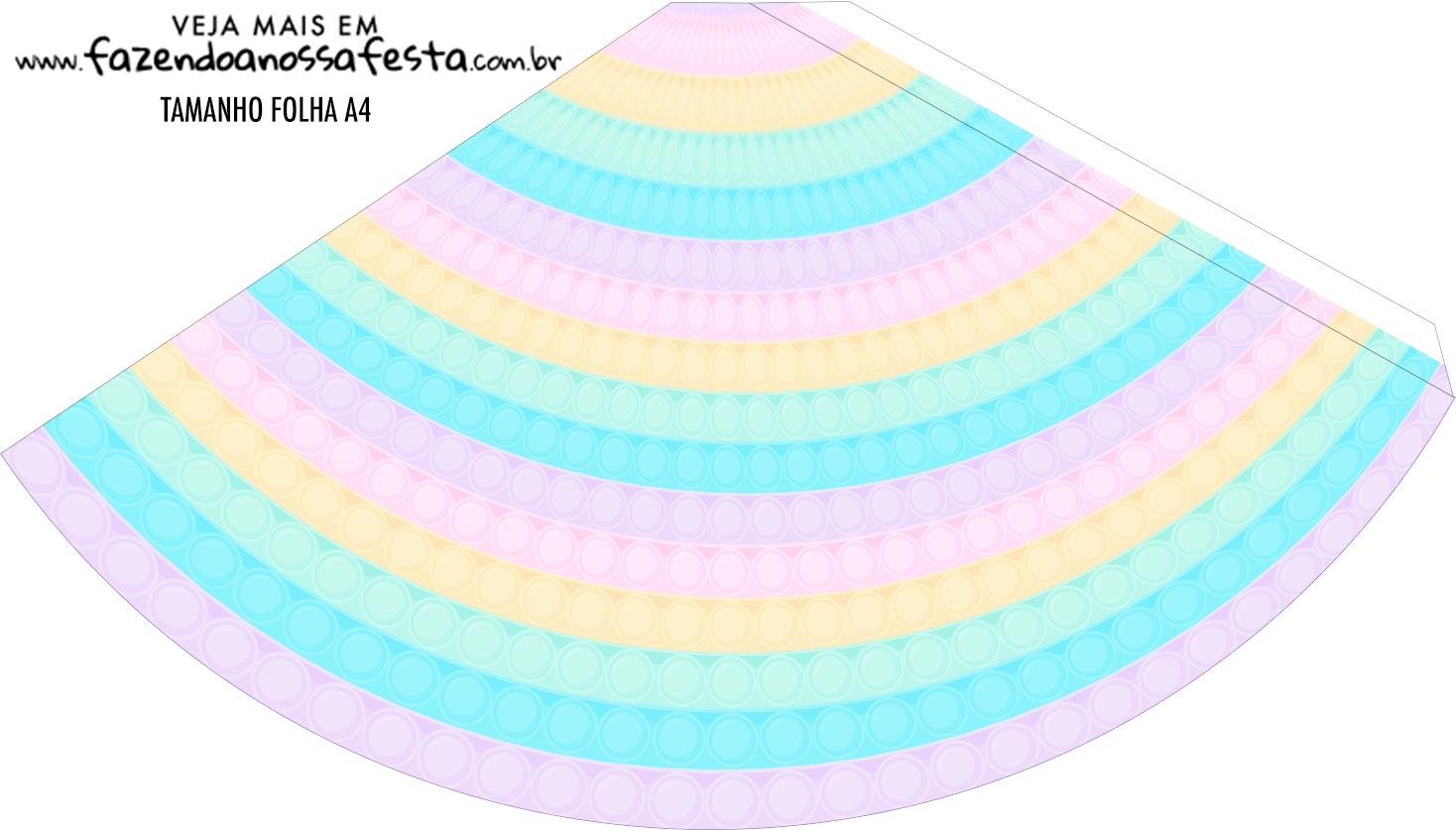 Chapeu de Festa Personalizado Pop It Candy Color
