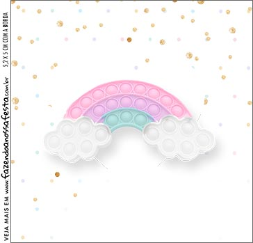 Molde Caixa Acrilica Pop It Candy Color