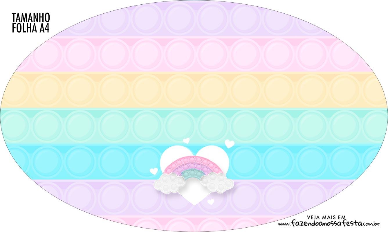 Placa Elipse Pop It Candy Color