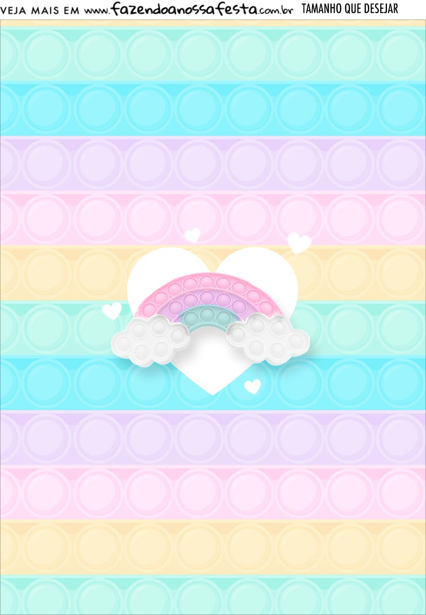Printable Pop It Candy Color