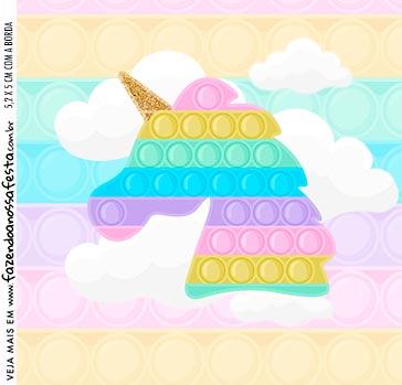 Rotulo Caixa Acrilica Pop It Candy Color
