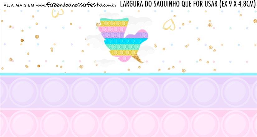 Rotulo Saquinho de Bala Pop It Candy Color