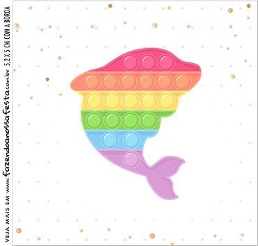 Rotulo para Caixa de Acrilico Pop It Candy Color