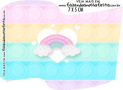 Topper Bandeirinha Kit Festa Pop It Candy Color