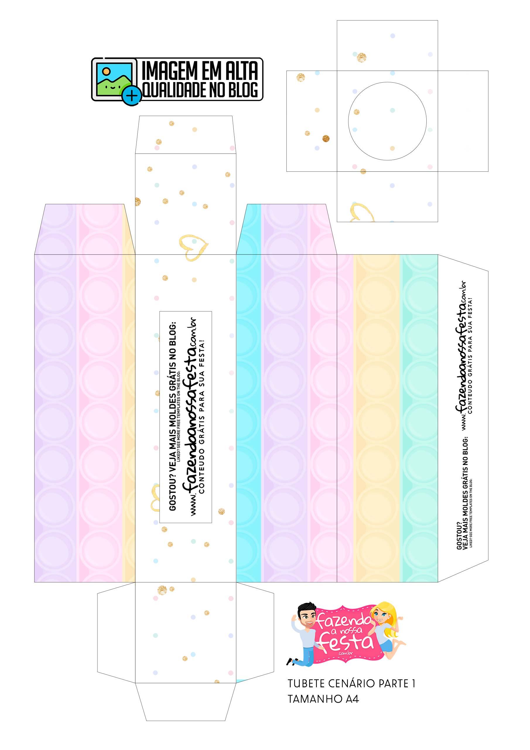 Tubete Cenario Kit Festa Pop It Candy Color