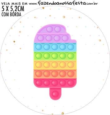 adesivo mini baleiro Pop It Candy Color