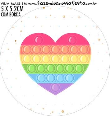 adesivo mini latinha Pop It Candy Color