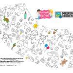 Abajur Dia das Criancas para colorir