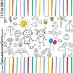 Adesivo Bala Personalizada Kit Dia das Criancas para colorir