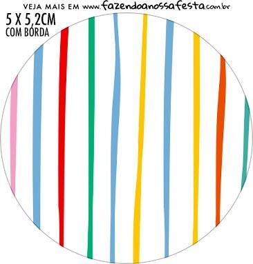 Adesivo para tubetes Kit Dia das Criancas para colorir