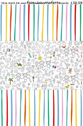 Balinha Dia das Criancas para colorir