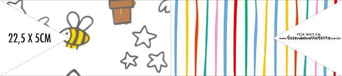 Bandeirinha de Dois Lados Kit Dia das Criancas para colorir