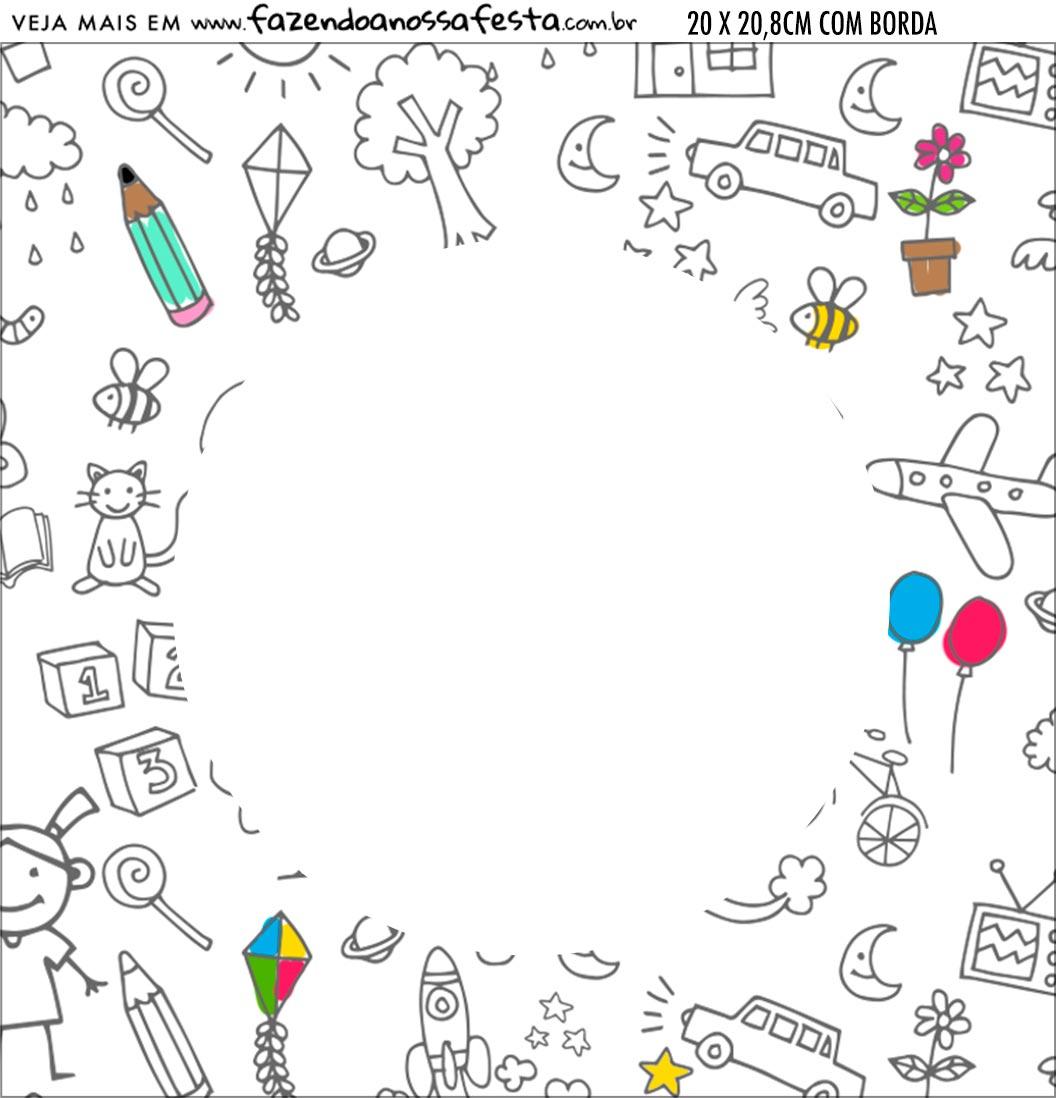 Bandeirola personalizada Dia das Criancas para colorir