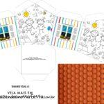 Caixa Casinha Dia das Criancas para colorir