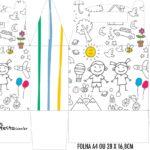 Caixa Maleta Surpresa Dia das Criancas para colorir