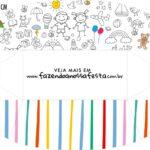 Caixa Mini Cachorro Quente Dia das Criancas para colorir