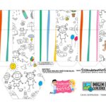 Caixa Sextavada Dia das Criancas para colorir