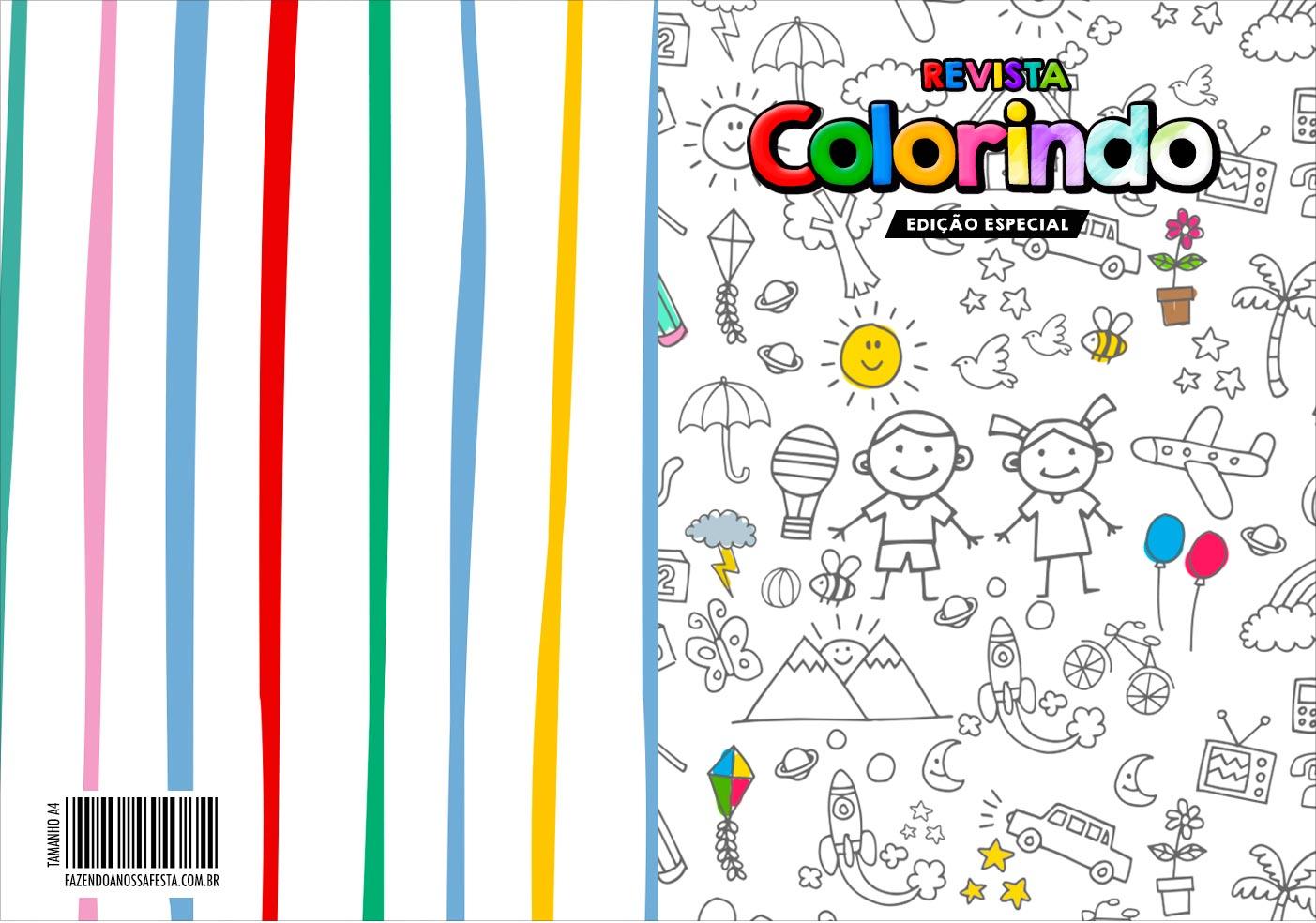Capa Livrinho para Colorir Dia das Criancas para colorir