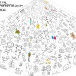 Chapeu de Festa Personalizado Dia das Criancas para colorir