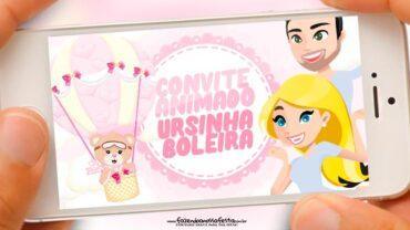 Convite Animado Ursinha Baloeira