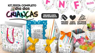 Kit Dia das Criancas Moldes para Lembrancinhas