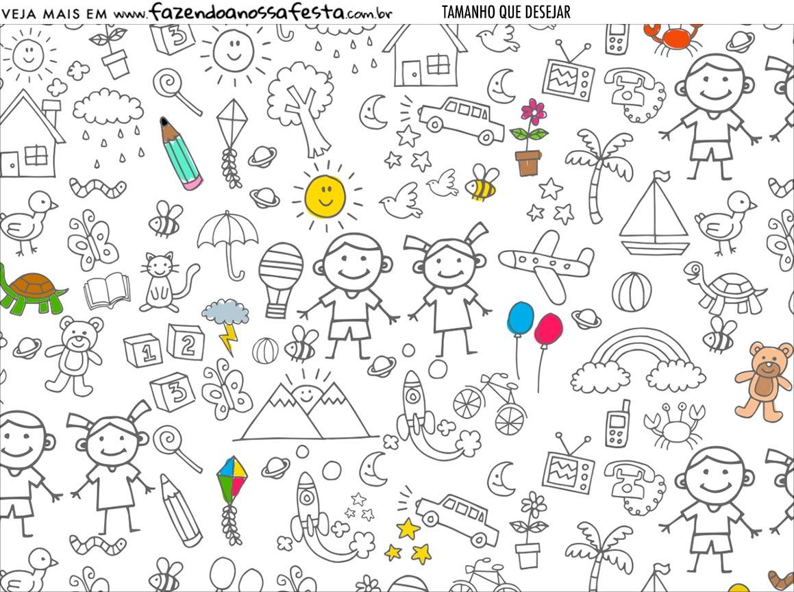 Personalizado Dia das Criancas para colorir