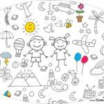 Placa Elipse Dia das Criancas para colorir