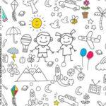 Rotulo Caixa Acrilica Dia das Criancas para colorir