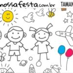 Rotulo Dia das Criancas para colorir