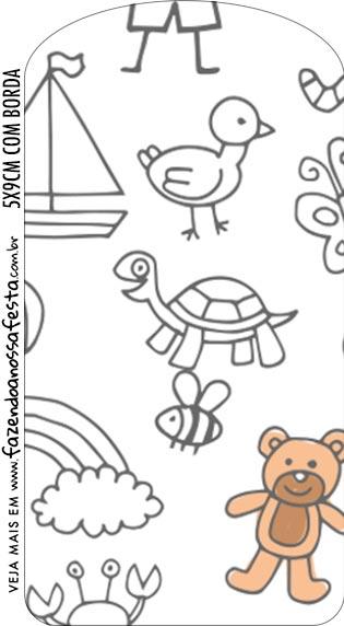 Tag Dia das Criancas para colorir