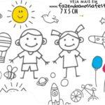 Topper Bandeirinha Dia das Criancas para colorir
