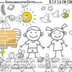 Vale Brinde Dia das Criancas para colorir